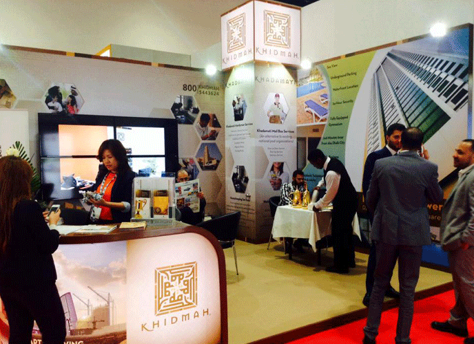 Exhibition Stand Installation : Advertising company in dubai exhibition stand builder