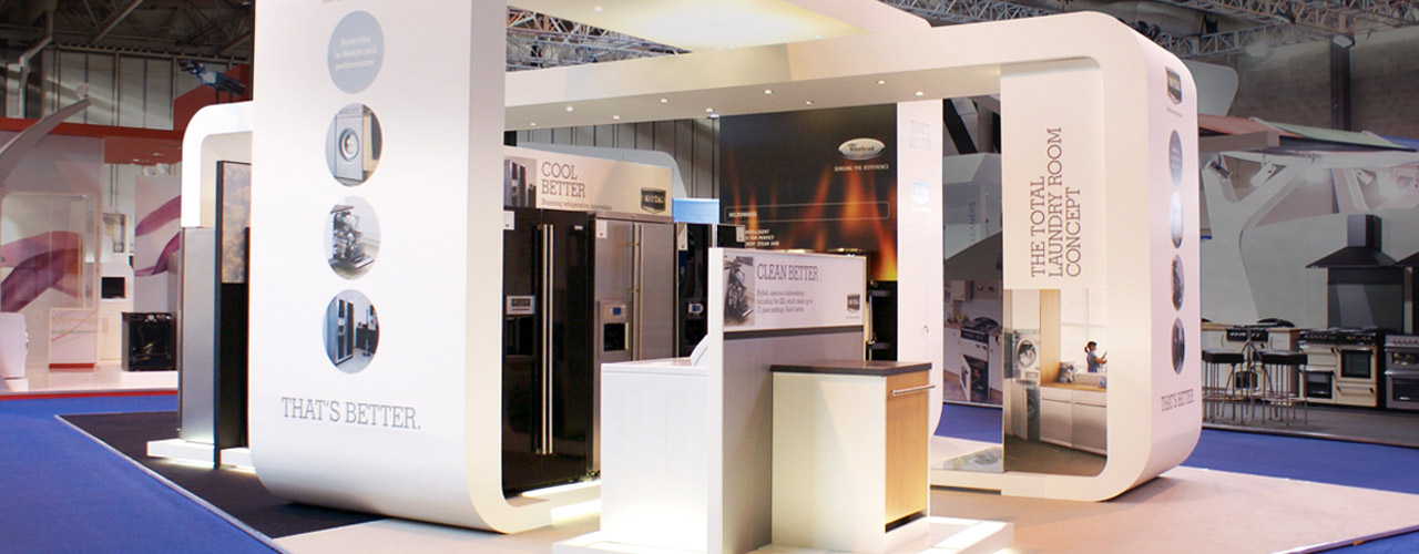 Sungard Exhibition Stand By Me : Right design of the stands for exhibitions